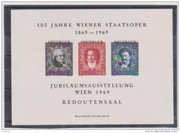 Österreich  1969 : Neudruck Opernblock -Mozart/Beethoven/Strauß (siehe Foto/Scan) - Entiers Postaux