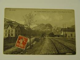 HAUTES ALPES-913-SAINT CREPIN-LA GARE AU FOND MASSIF DU PELVOUX ED V.FOURALET-TRAIN - France