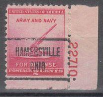 USA Precancel Vorausentwertung Preo, Locals Ohio, Hamersville 723, Plate# - Vereinigte Staaten
