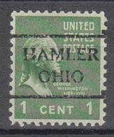USA Precancel Vorausentwertung Preo, Locals Ohio, Hamler 716 - Vereinigte Staaten