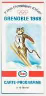 Carte Programme Des Xèmes Jeux Olympiques D'Hiver De GRENOBLE 1968  Olympic Games 68 - Other