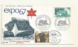 FDC EXPO UNIVERSELLE PAVILLON DE LA FRANCE   MONTREAL 1976 + TP  +OBLI  JO MONTREAL - 1967 – Montréal (Canada)