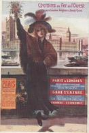 18 / 2 / 349  -  CHEMINS  DE  FER  DE  L'OUEST   -  PARIS  À  LONDRES - Schienenverkehr