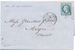 PARIS PL. DE LA BOURSE 10 FEV. 70 = 1870 - YT N° 29 - ETOILE Avec 1 - - 1849-1876: Klassik
