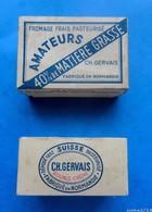 2 Anciennes Petites Boites En Carton Produits Laitiers CH. GERVAIS : Fromage Frais Et Petits Suisses - Boxes