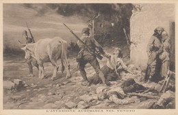 11636-L'INVASIONE AUSTRIACA NEL VENETO-ILLUSTRATORE BELTRAME-FP - Guerra 1914-18
