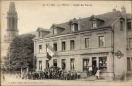 Cp Willer Weiler Haut Rhin, Café De Paris, Tour De L'Église - France