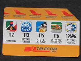 ITALIA 2534 C&C - PROTEZIONE CIVILE TELECOM AA LIRE 5.000 - USATA - Italy