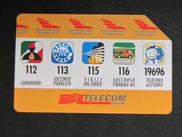 ITALIA 2535 C&C - PROTEZIONE CIVILE TELECOM AA LIRE 10.000 - USATA - Italy