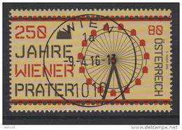 """Österreich 2016:  """"250 J.Wiener Prater"""" Gestempelt (siehe Foto/Scan) - 2011-... Gebraucht"""
