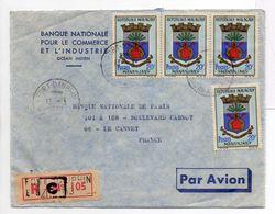 - Lettre Recommandée BANQUE NATIONALE FORT-DAUPHIN Pour LE CANNET (France / Alpes-Maritimes) 13.3.1970 - A ETUDIER - - Madagascar (1960-...)