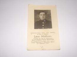Léon Mathieu De Rienne.Militaire Maréchal Des Logis De Gendarmerie Mort Au Champ D Honneur à Bourseigne Neuve. - Décès