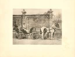 CHEVAL : MADAME MARGUERITE BELLANGE Conduisant Son Duc - 1865 - Photographs