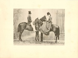 CHEVAL : CORA PEARL (Miss Emma Crush Et Le Prince A. M. - 1865 - Photographs