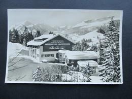 Österreich Echtofoto Grenzgasthaus Walserschanz. Aus Dem Schweden / Franzosenkrieg Bekannte Gasthaus. Bes. Karl Gschwend - Hotels & Gaststätten