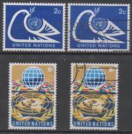 NATIONS-UNIES  ( New-York)  N°242/244  __NEUF**et OBL VOIR SCAN - New York -  VN Hauptquartier