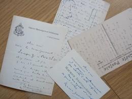 Maurice DESVALLIERES (1857-1926) Dramaturge. Ami Georges FEYDEAU. 2 X AUTOGRAPHE - Autographs