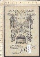 PO7260D# TESSERA GIOVENTU' FEMMINILE AZIONE CATTOLICA - DIOCESI SUSA 1929 - Vecchi Documenti