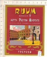 PO7271D# ETICHETTA VINI LIQUORI RHUM - FABBRICA PIETRO MARCATI TREVISO - Rhum