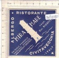 PO7277D# ETICHETTA - ADESIVI ALBERGHI - ALBERGO RISTORANTE MIRAMARE CIVITAVECCHIA - Hotel Labels