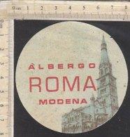 PO7279D# ETICHETTA - ADESIVI ALBERGHI - ALBERGO ROMA MODENA - Adesivi Di Alberghi