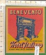 PO7280D# ETICHETTA - ADESIVI ALBERGHI - HOTEL ITALIANO BENEVENTO - Hotel Labels