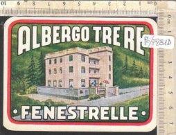 PO7281D# ETICHETTA - ADESIVI ALBERGHI - ALBERGO TRE RE FENESTRELLE - Hotel Labels