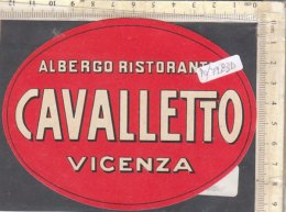 PO7283D# ETICHETTA - ADESIVI ALBERGHI - ALBERGO RISTORANTE CAVALLETTO VICENZA - Hotel Labels