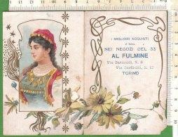 PO7285D# CALENDARIETTO PUBBLICITARIO NEGOZI DEL 33 AL FULMINE - TORINO 1907/LIBERTY - Calendari