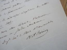 GENERAL Empire Joseph FRIRION (1771-1849) Présent FRIEDLAND, ESPAGNE, Portugal ... AUTOGRAPHE - Autógrafos