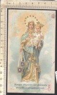 PO7362D# SANTINO MADONNA - NOSTRA SIGNORA DEL CARMELO - S.SCAPOLARE Tip. Santa Lega Eucaristica N.3 - Santini