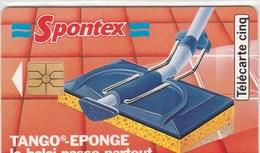 TELECARTE 5 UNITES...SPONTEX  TANGO-EPONGE..... - France