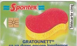 TELECARTE 5 UNITES...SPONTEX  GRATOUNETT..... - France
