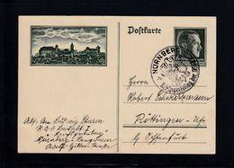 DR GZ NÜRNBERG 1938 GEBRAUCHT/SST  2 X SCAN - Duitsland