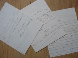 Raimond DESLANDES (1825-1890) Directeur THEATRE VAUDEVILLE. Dramaturge 3 X AUTOGRAPHE - Autographs