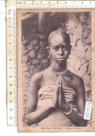 PO7609D# AFRICA ORIENTALE - ERITREA - RAGAZZA ABISSINA - COLONIE ITALIANE   VG 1935 - Eritrea