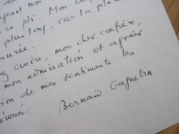 Bernard GAGNEBIN (1915-1998) Historien SUISSE. Genève UNIVERSITE . Fondation Martin Bodmer. AUTOGRAPHE - Autographs