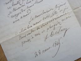 SILVESTRE De SACY (1801-1879) Bibliothèque MAZARINE. Académie FRANCAISE. Autographe - Autographs