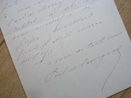 PAUL De CASSAGNAC (1842-1904) BONAPARTISTE. DUELLISTE. Condom (Gers). AUTOGRAPHE - Autographs