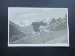 Echtfoto AK Schruns Vorarlberger Heimatbilderverlag G. Heinzle's Erben Bludenz. Berghütte / Almhaus - Schruns