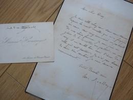 Arsène HOUSSAYE (1814-1896) Ecrivain, Poète ... Ami GAUTIER Et NERVAL. Doyenné ... AUTOGRAPHE - Autographs