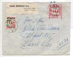 - Lettre LIMA Pour ZÜRICH (Suisse) 21.11.1956 - A ETUDIER - - Peru