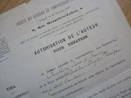 Paul MEURICE (1818-1905) Romancier. Ami VICTOR HUGO. Autographe - Autographs
