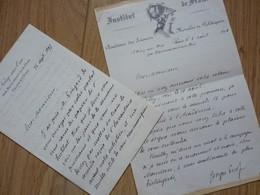 Georges PICOT (1838-1909) NOISY SUR OISE. Membre INSTITUT. Musée Condé. 2 X Autographe - Autographs