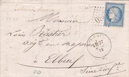 382 - LAC - CERES 60 - 27.3.72  -  TOULON SUR ARROUX  à  ELBEUF - Postmark Collection (Covers)