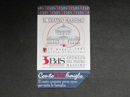 ITALIA TELECOM 2670 C&C 621 GOLDEN - BDS BANCO DI SICILIA TEATRO MASSIMO - USATA - Italy