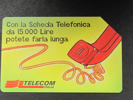 ITALIA TELECOM 2813 C&C 747 GOLDEN - NON PERDETE IL FILO - USATA - Italy