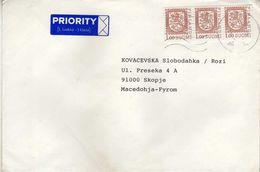 Finland Letter Via Macedonia.nice Stamp - Cartas