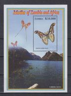 N62. MNH Zambia Nature Animals Insects Butterflies - Schmetterlinge