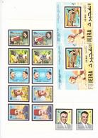 1972- Gamal Abd El Nasser- N°Michel 551 à 556A- Dentelés Et Non Dentelés - Bloc Feuillets 27 A Et 27B - Fujeira